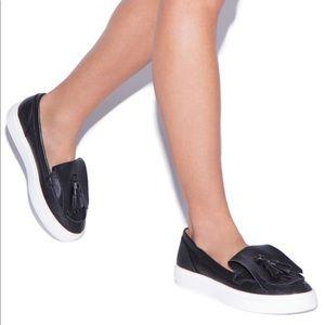 Shoe Dazzle Tenae Tassel tennies